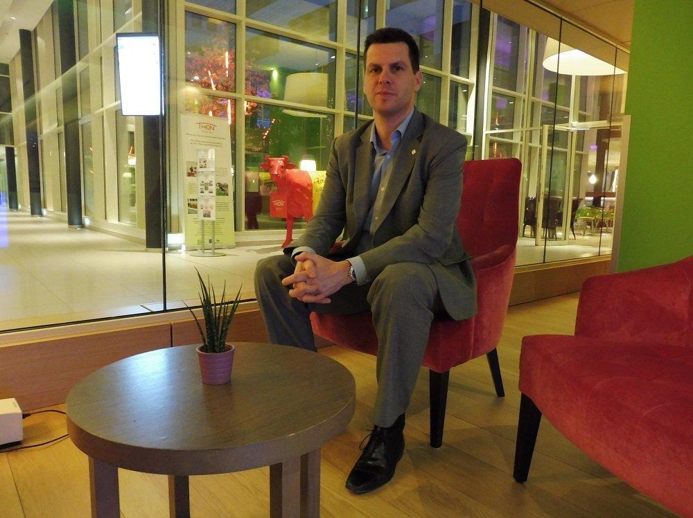 Hans Van der biesen, directeur général de l'hôtel Thon