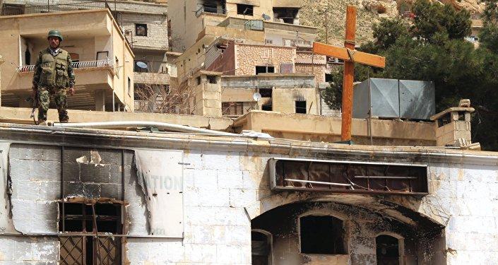La situation dans la ville syrienne de Maaloula