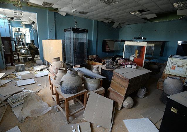 Le musée de Palmyre après la libération