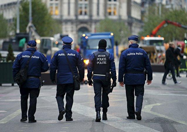 Des policiers belges