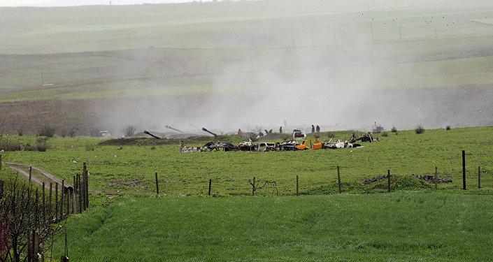Situation dans la zone du conflit du Karabakh. Archives