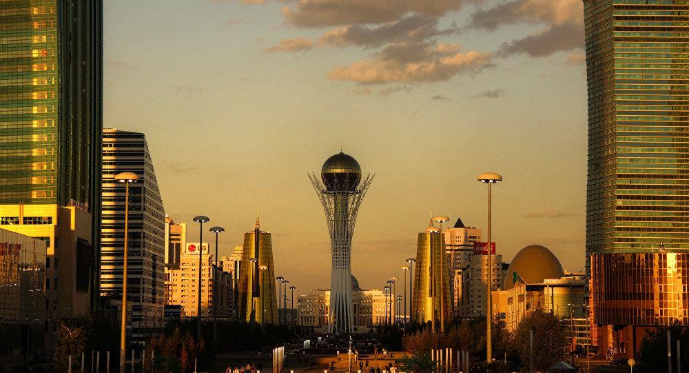Astana golden hour. Kazakhstan