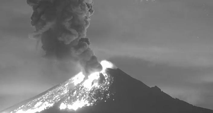 L'éruption extraordinaire du volcan Popocatepetl