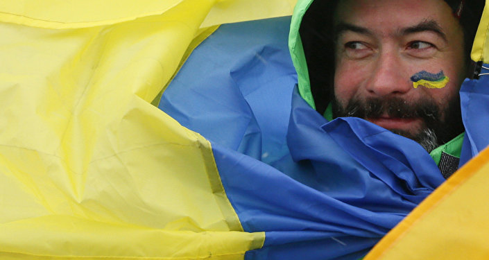 Un drapeau ukrainien