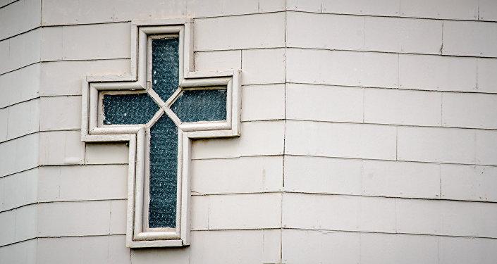 Une fenêtre de l'église Sainte-Marie à Nashville