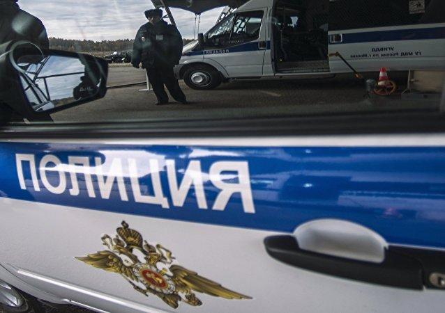 Voiture de la police russe