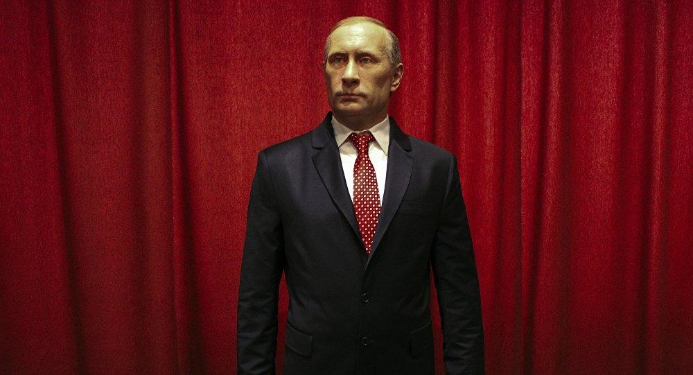 La statue en cire de Vladimir Poutine dans le musée de la ville serbe Jagodina