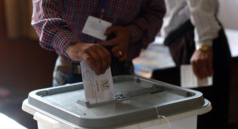bureaux de vote en Syrie