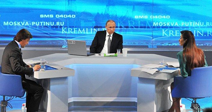 Ligne directe avec Vladimir Poutine, archives.