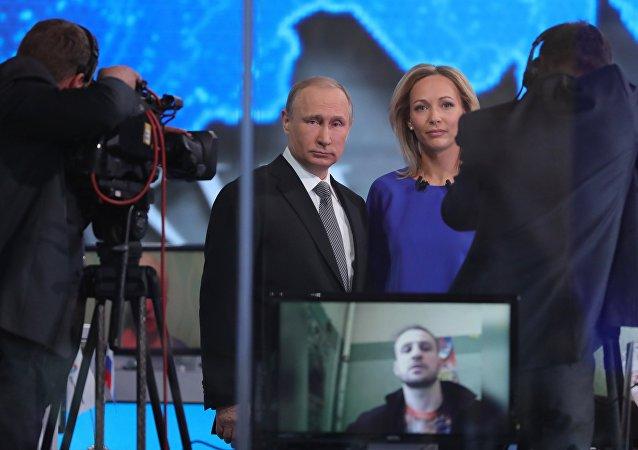 Ligne directe avec le président russe Vladimir Poutine