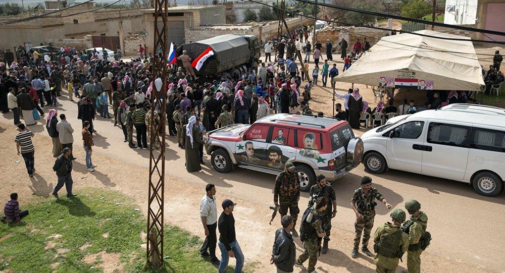 Distribution d'aide humanitaire russe en Syrie (images d'archives)