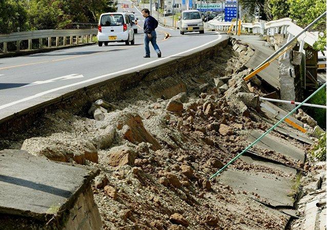 Les conséquences du tremblement de terre dans la préfecture de Kumamoto
