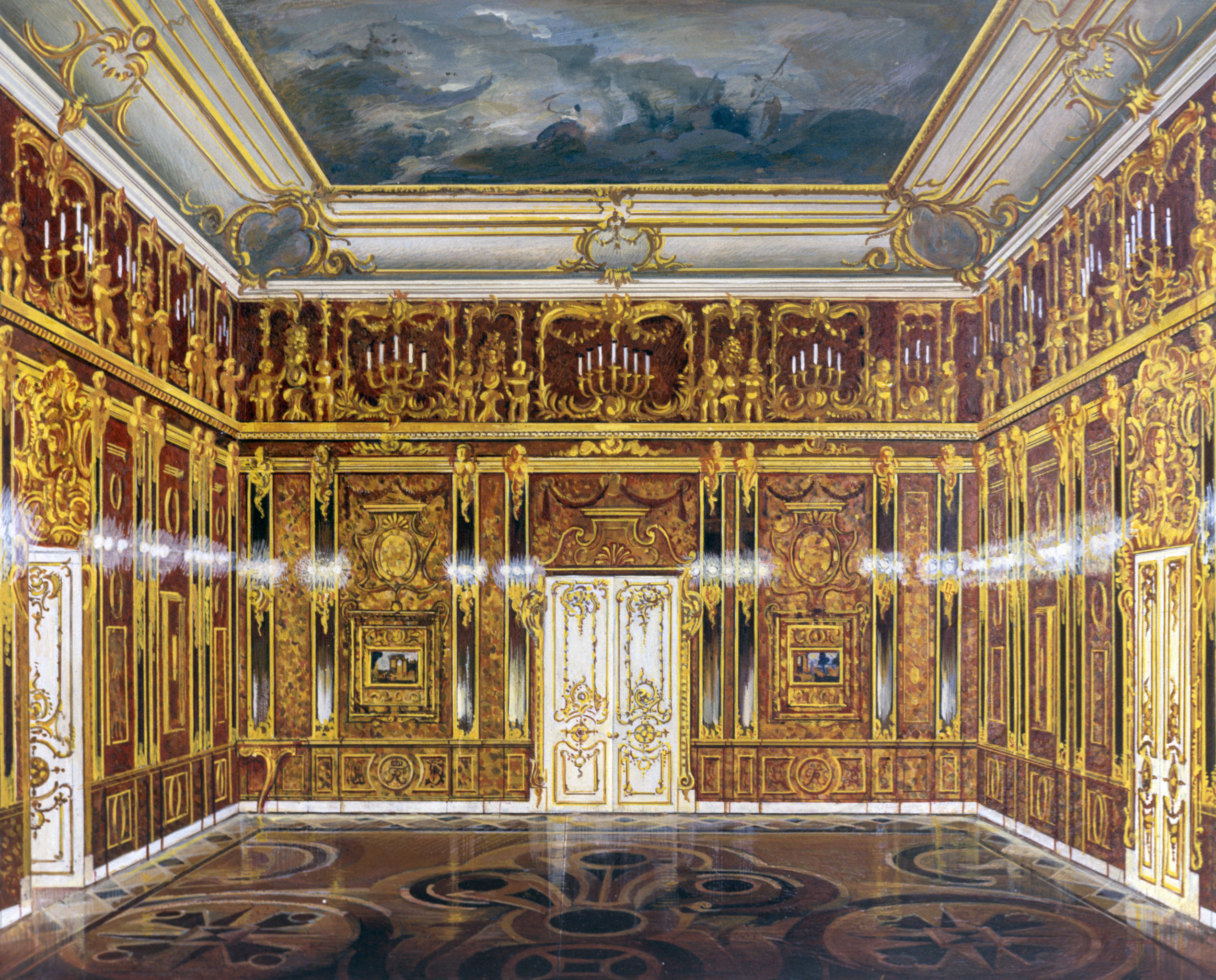 La reproduction de la Chambre d'ambre