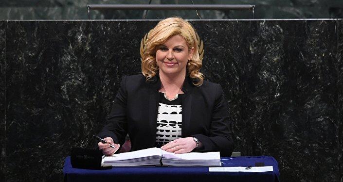 Présidente de la République de Croatie Kolinda Grabar-Kitarović