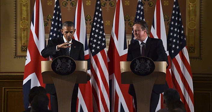 Barack Obama et David Cameron