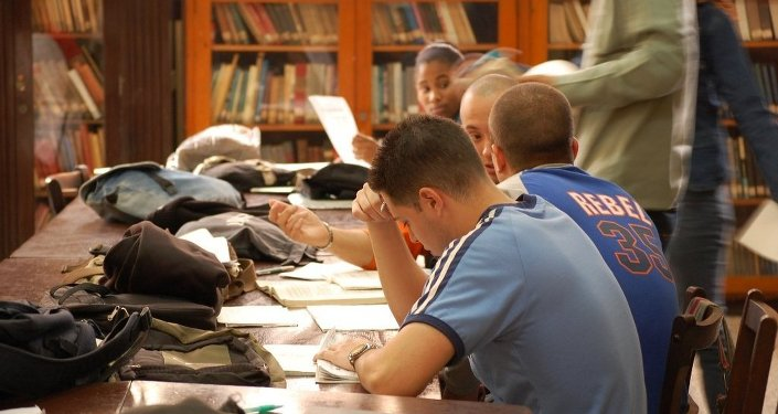 Des étudiants