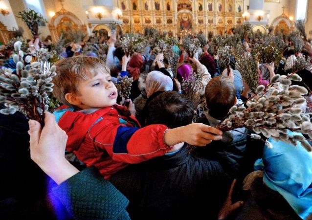 Le dimanche des Rameaux en Russie