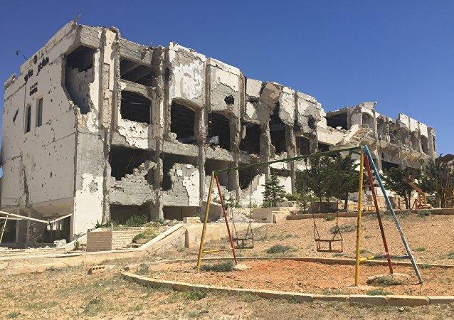 Ancien hôtel détruit par Daech