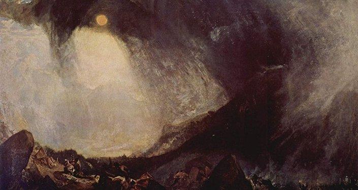 William Turner, Tempête de neige: Hannibal et son armée traversant les Alpes