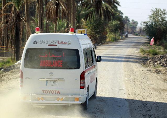 Une ambulance irakienne