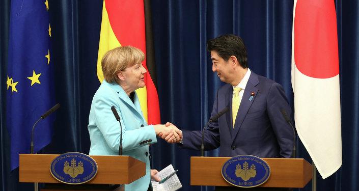 Angela Merkel et Shinzo Abe