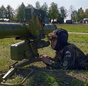 Une femme commando russe