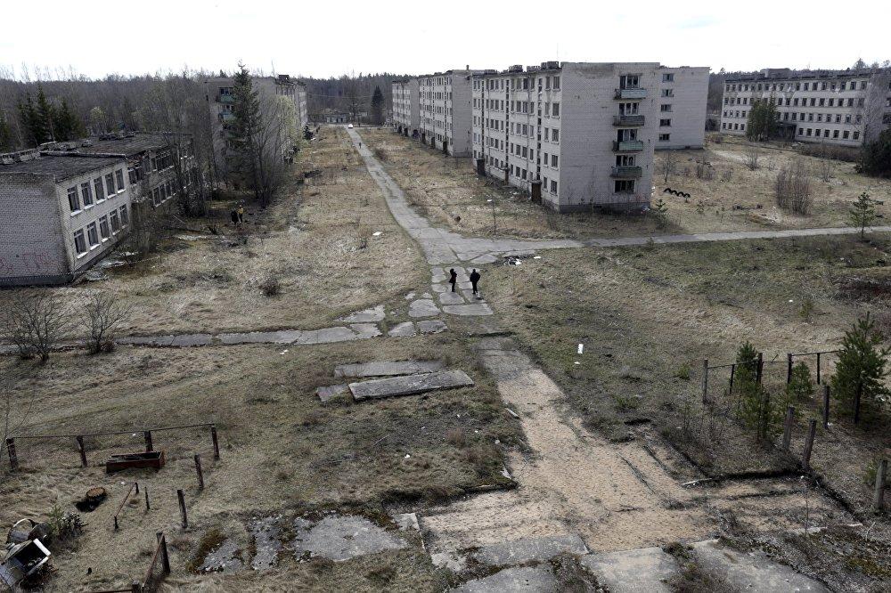 Une ville fantôme: l'ancienne base militaire soviétique en Lettonie