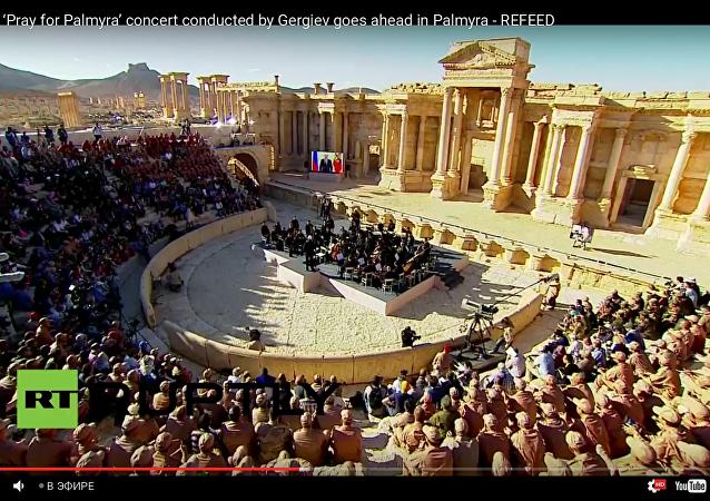 Un orchestre symphonique russe donne un concert à Palmyre