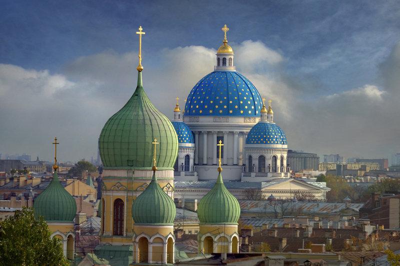 La cathédrale de la Trinité de Saint-Pétersbourg.