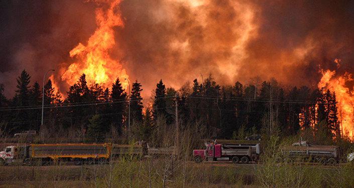 Le feu au Canada (image d'illustration)
