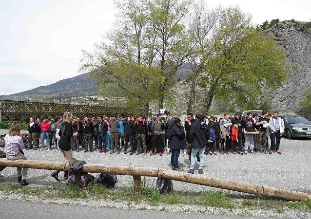 Epreuve enrichissante: les élèves français se mettent dans la peau de réfugiés
