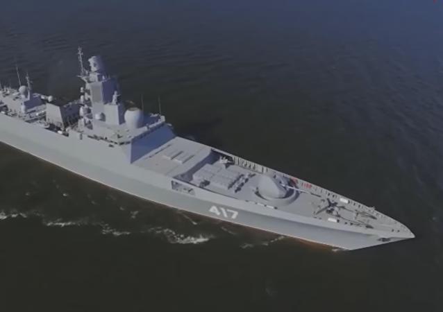 Le frégate du projet 22350 Amiral Gorchkov