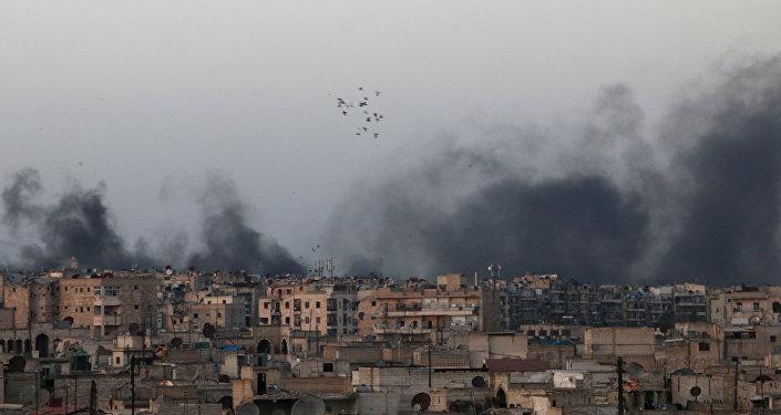 Pilonnage des quartiers chrétiens d'Alep