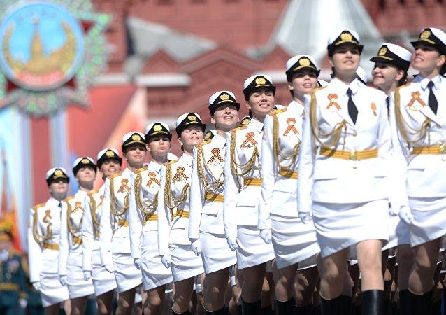 Les étudiantes de l'Université militaire du ministère russe