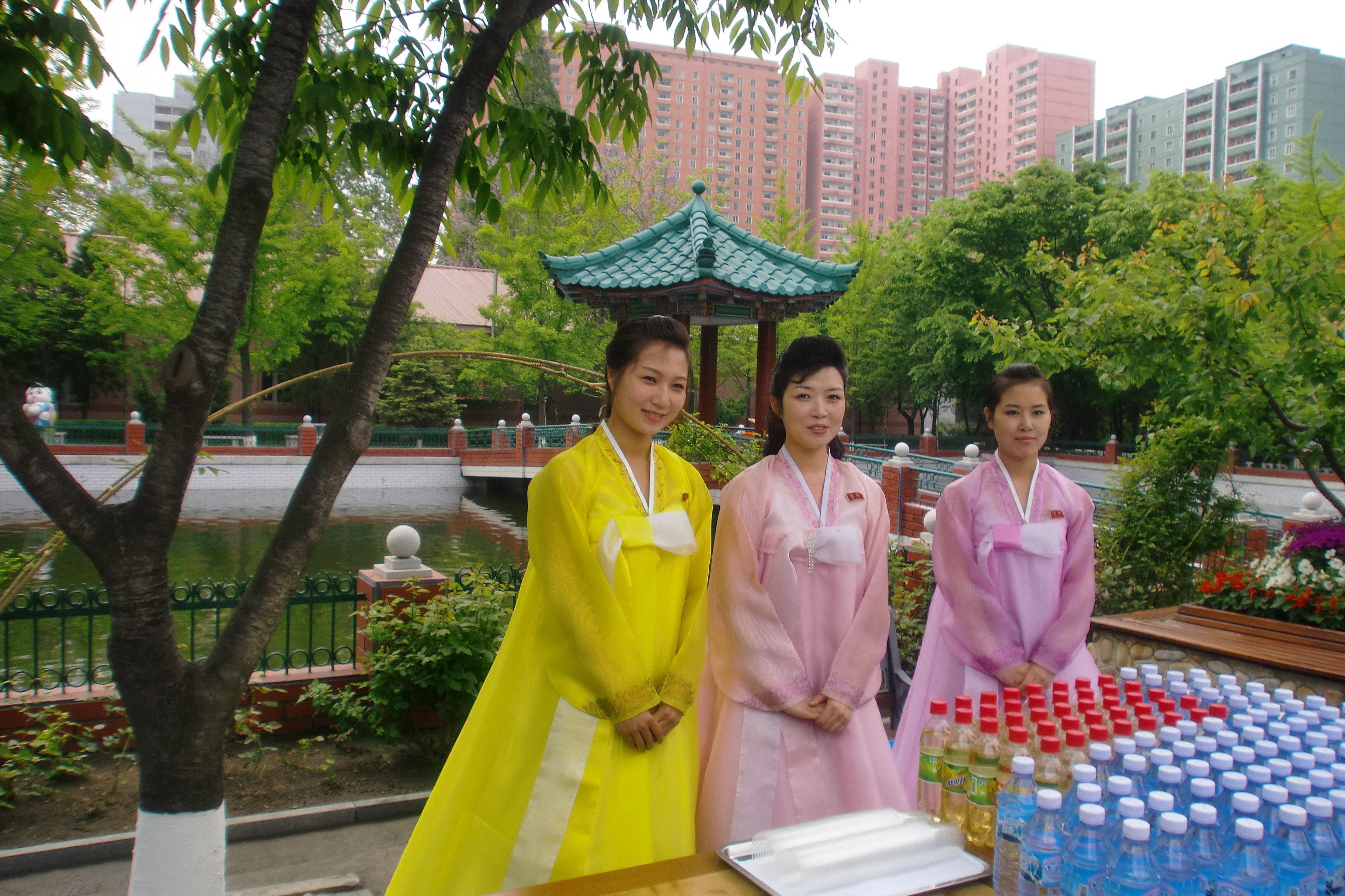 Le territoire d'une fabrique de soie à Pyongyang