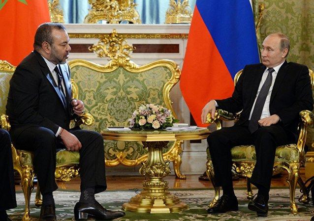 Le roi Mohammed VI et le Président Vladimir Poutine