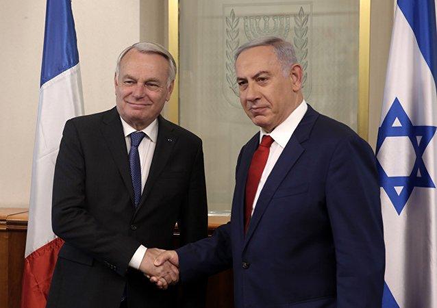 Jean-Marc Ayrault et Benjamin Netanyahou