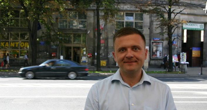 Mateusz Piskorski, le président du parti polonais Zmiana