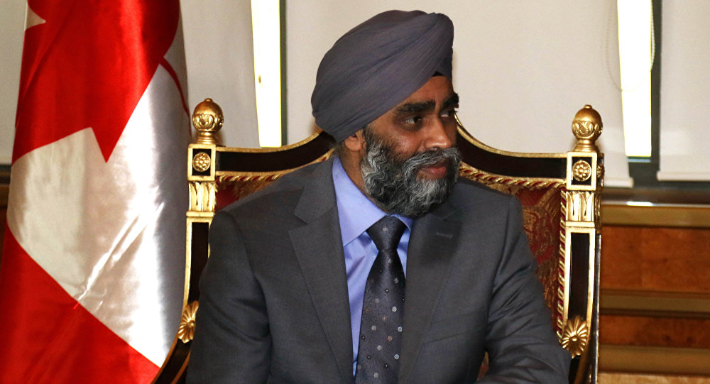 Harjit Sajjan,  ministre canadien de la Défense