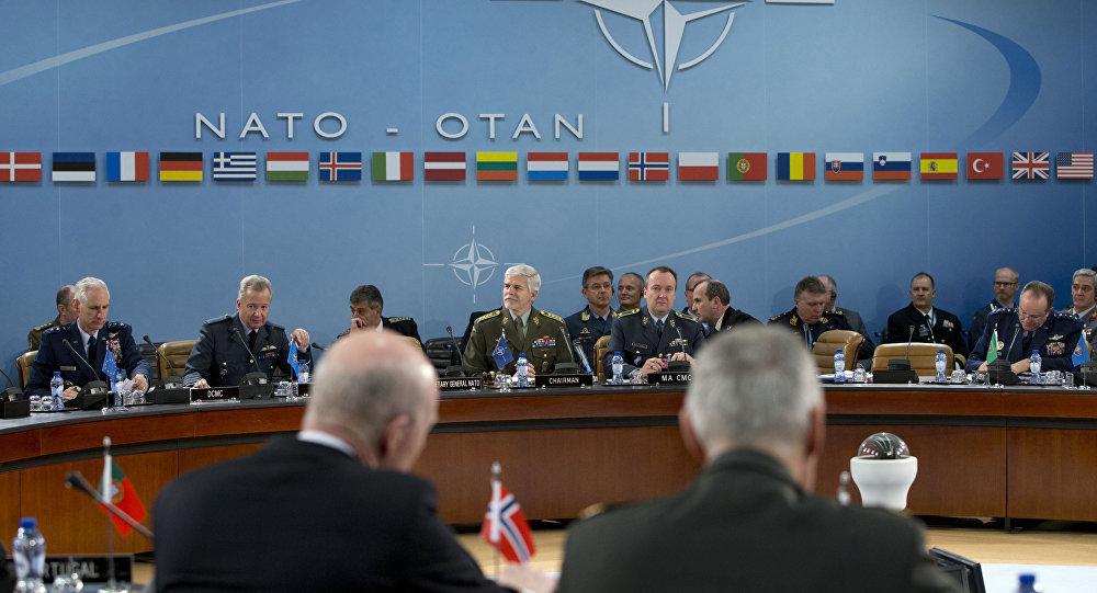 Le président du Comité militaire de l'Otan, le général tchèque Petr Pavel ouvre une réunion du Comité militaire au siège de l'OTAN à Bruxelles