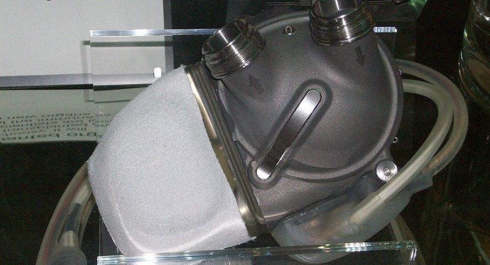 Image d'illustration. Cœur artificiel. Science Museum de Londres.