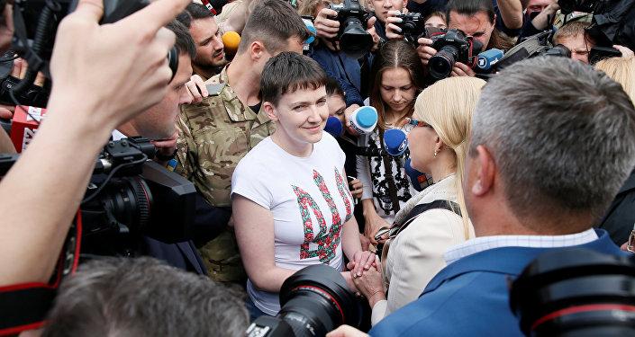 Nadejda Savtchenko de retour à Kiev