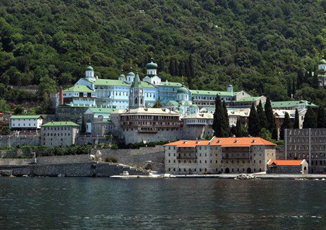 Monastère orthodoxe de Saint-Pantaléon au Mont Athos