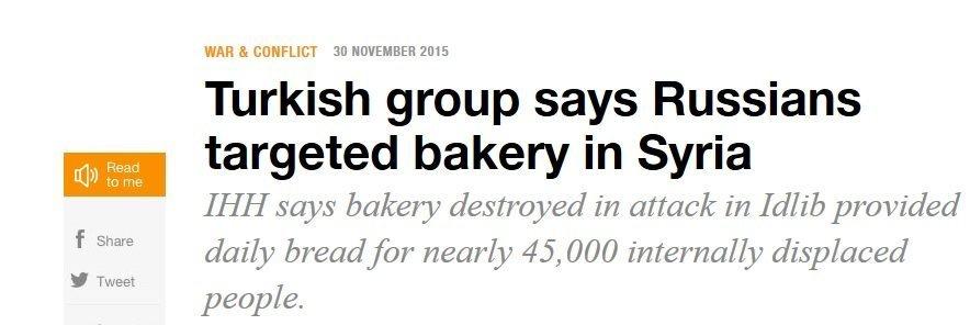 Screenshot of the article's headline