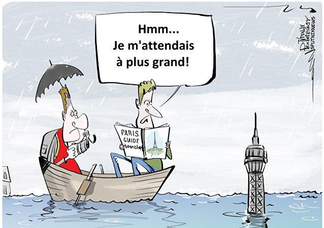 Crue de la Seine: le pic pourrait atteindre 6,20 m vendredi à Paris
