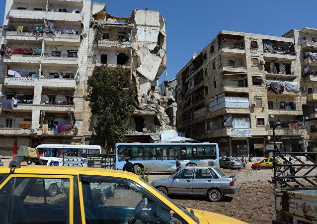 Un quartier résidentiel d'Alep