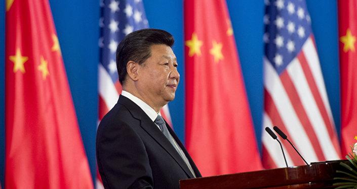 Xi Jinping intervenant lors de l'ouverture conjointe du 8e Dialogue stratégique et économique sino-américain (S&ED)