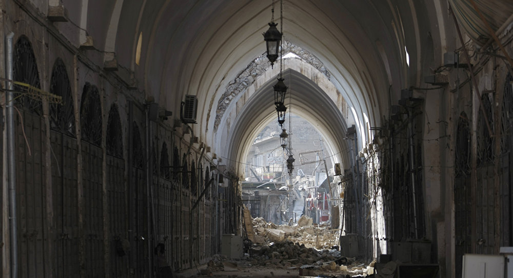 un marché en Syrie