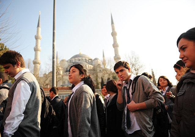 Des lycéens d'Istanbul