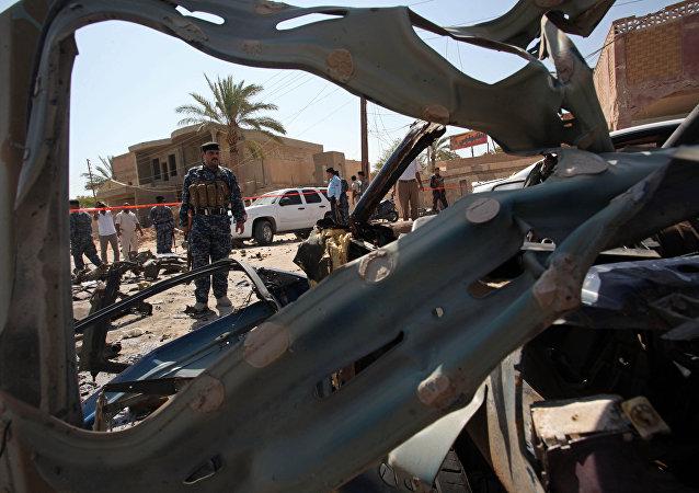 L'explosion d'un véhicule piégé en Irak